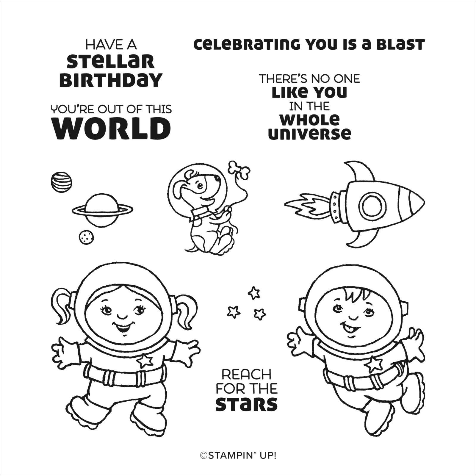 STELLAR BIRTHDAY CLING STAMP SET