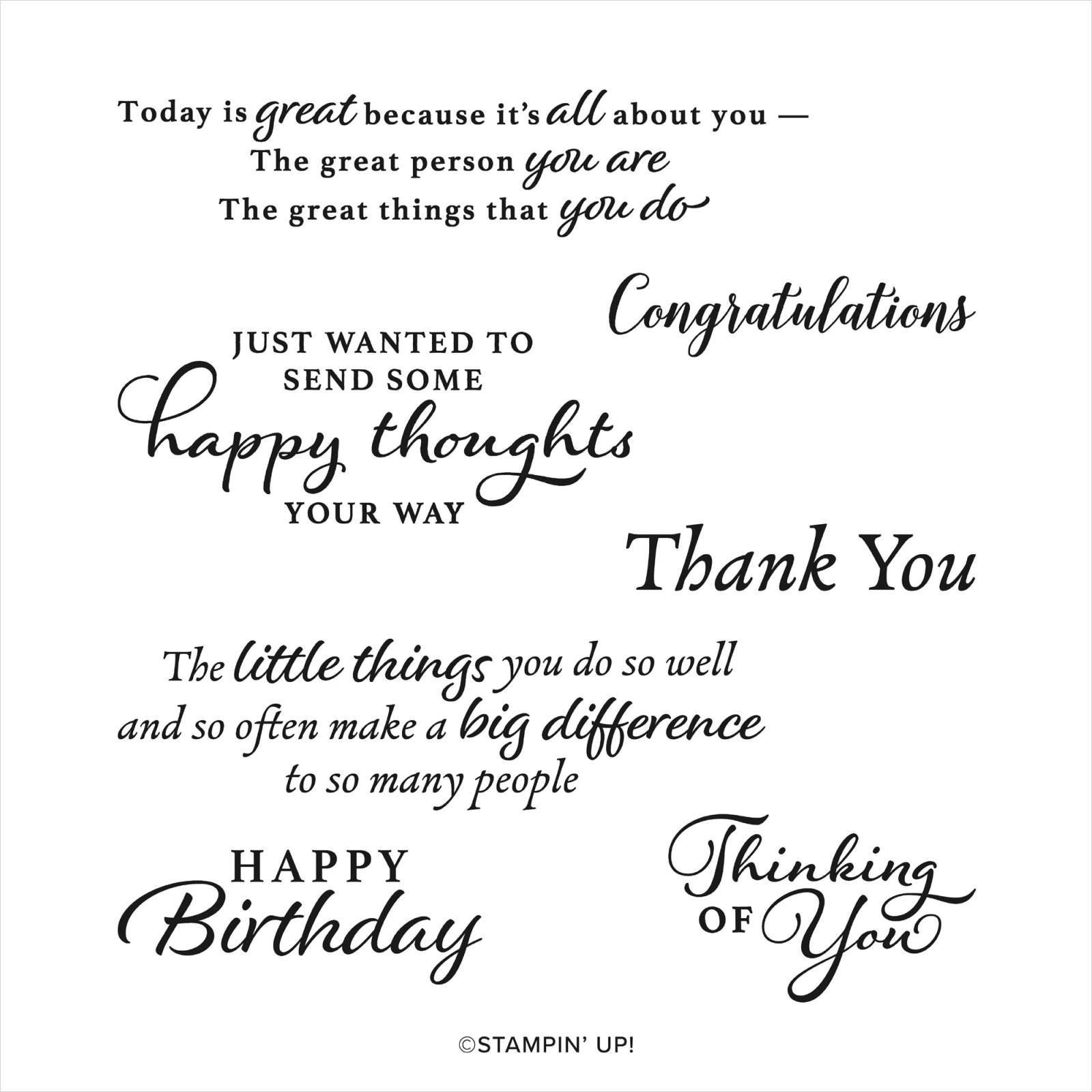 HAPPY THOUGHTS CLING STAMP SET
