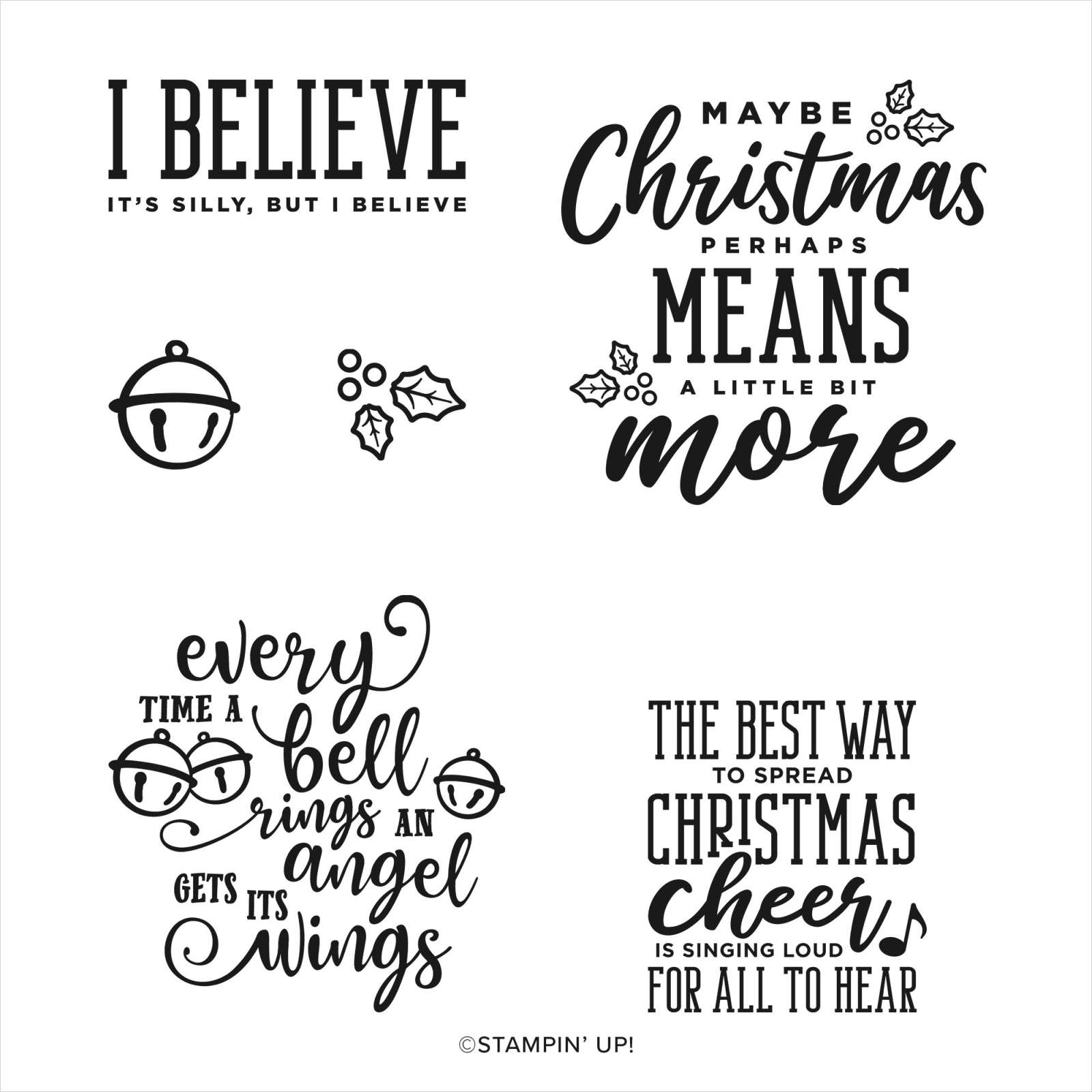 CHRISTMAS MEANS MORE PHOTOPOLYMER STAMP SET