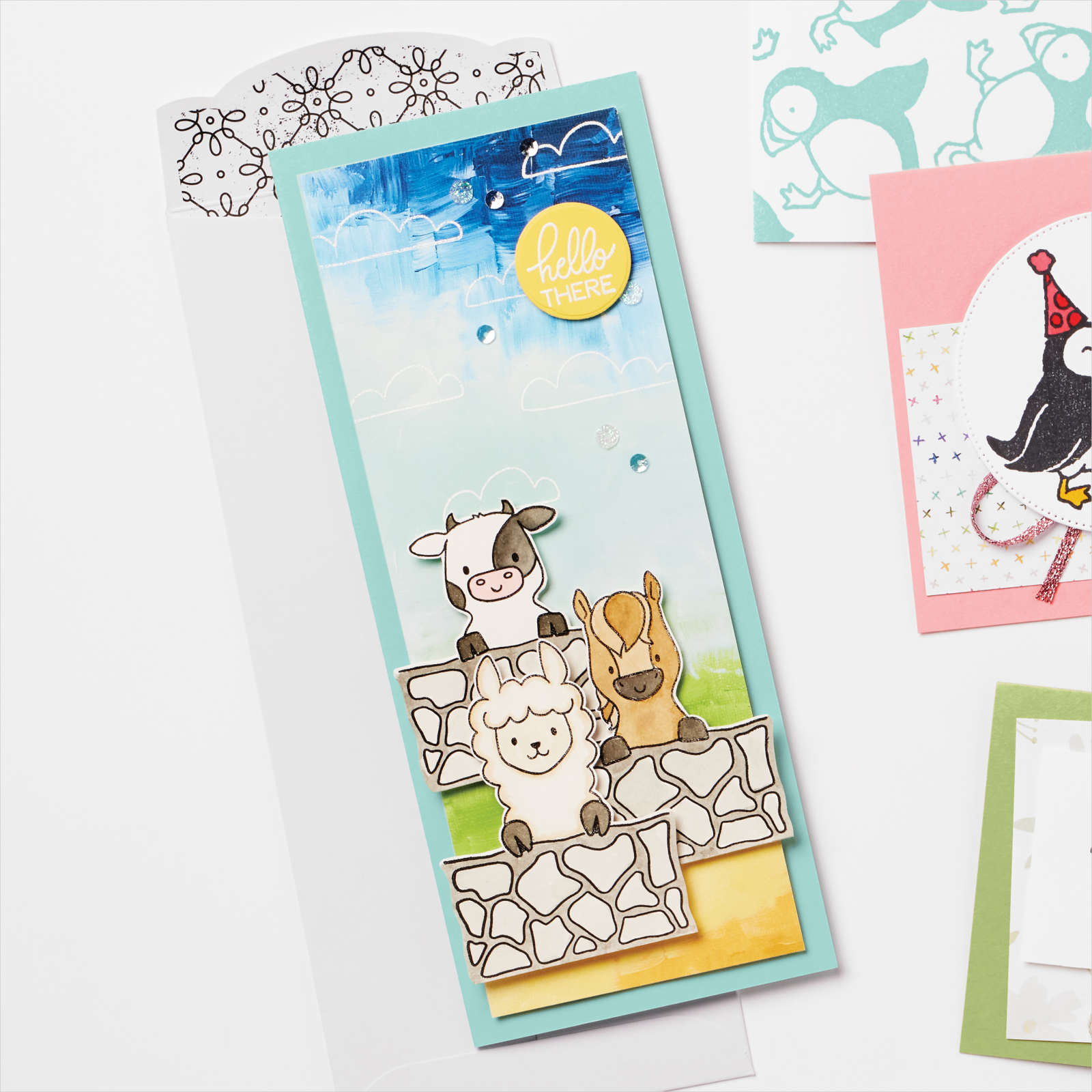 Peekaboo Farm & Picture This Dies by Stampin Up