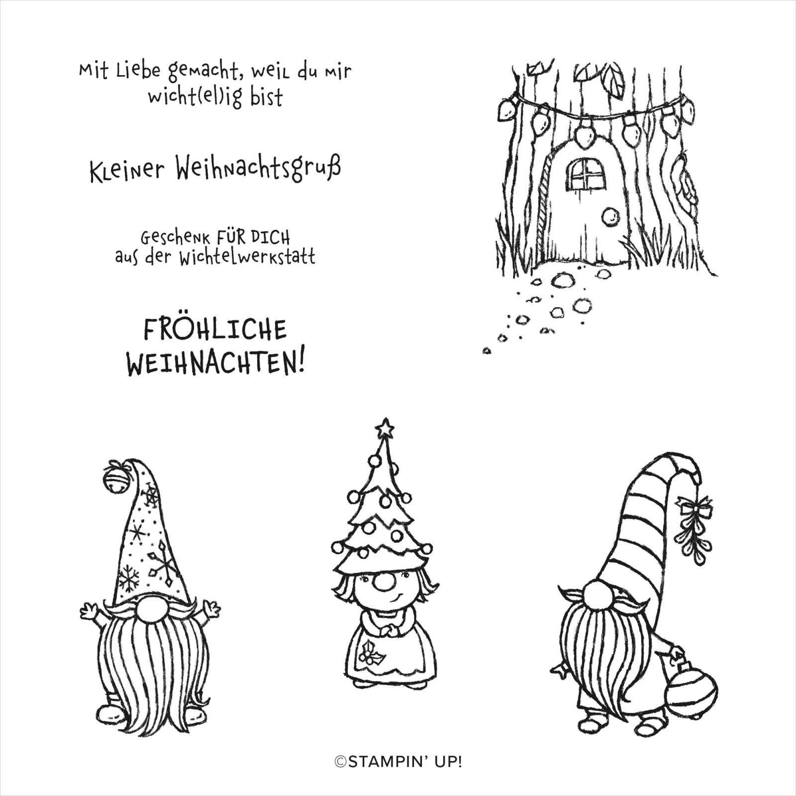 STEMPELSET ABLÖSBAR WICHTELWEIHNACHT (DEUTSCH)