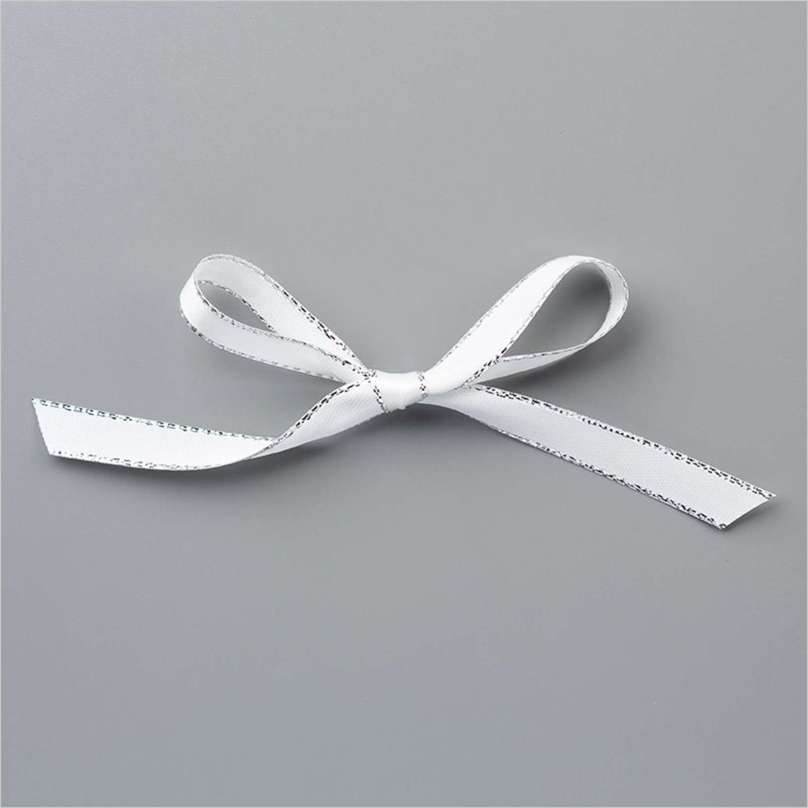 "SILVER 3/8"" (1 CM) METALLIC EDGE RIBBON"