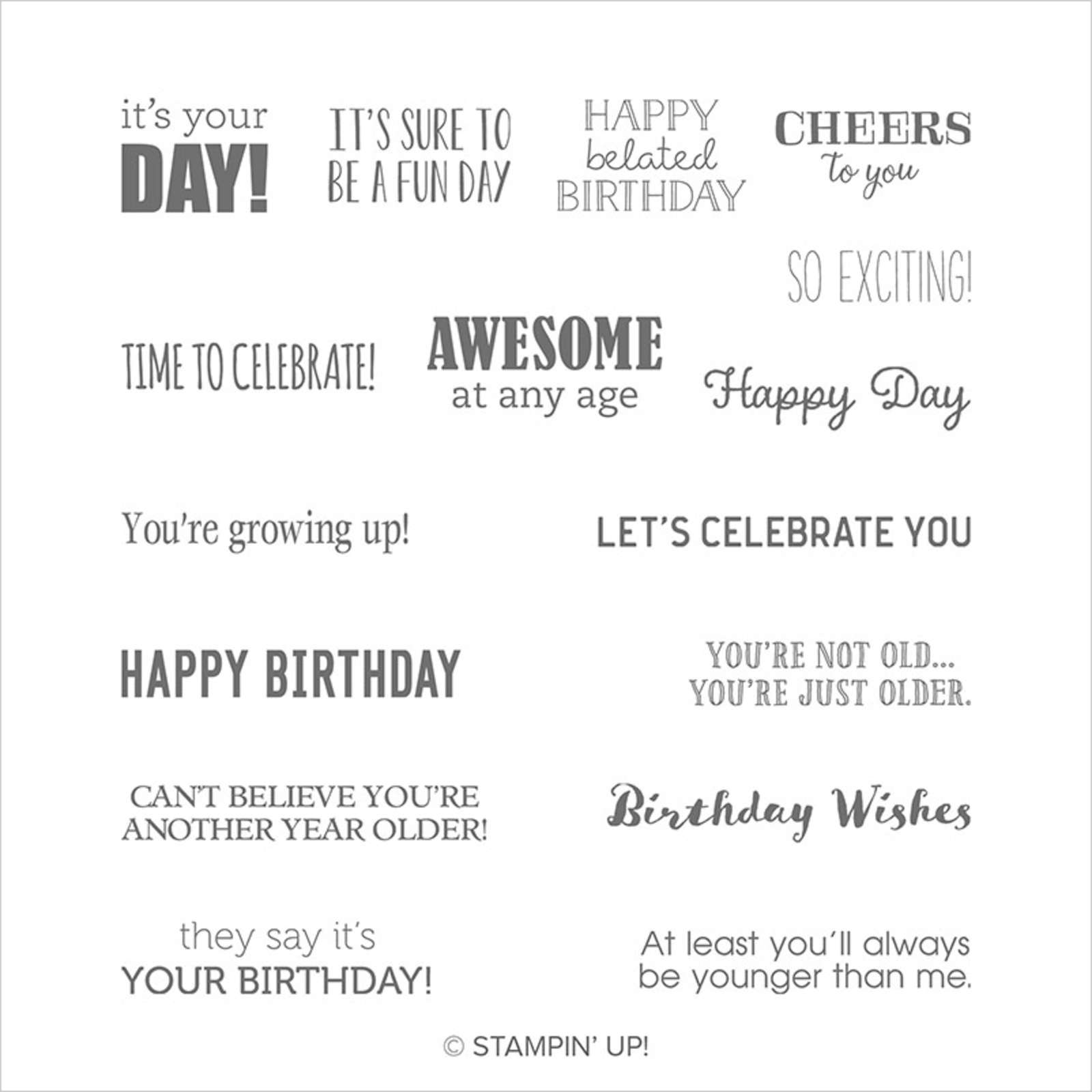 ITTY BITTY BIRTHDAYS CLING STAMP SET