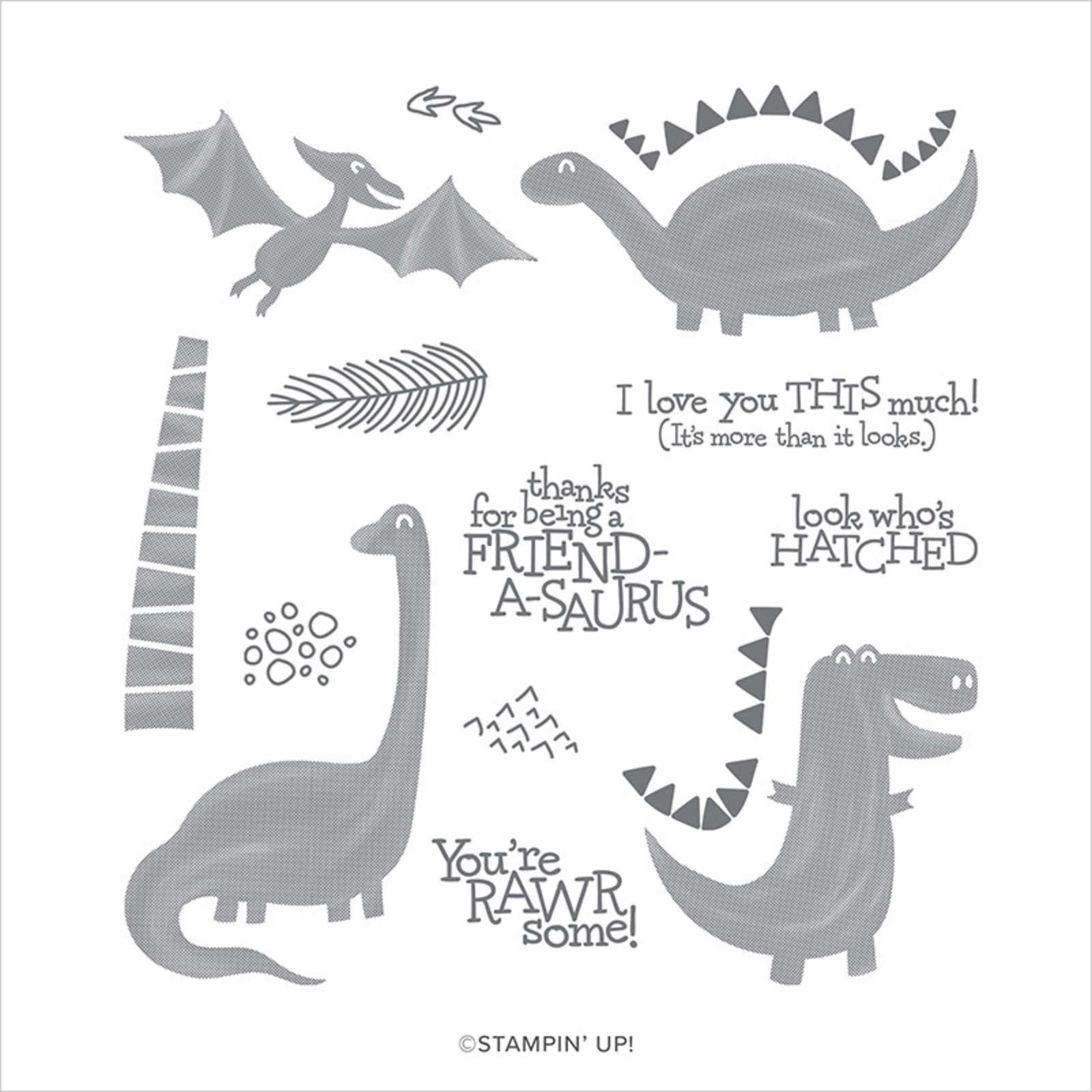DINO DAYS PHOTOPOLYMER STAMP SET (EN)