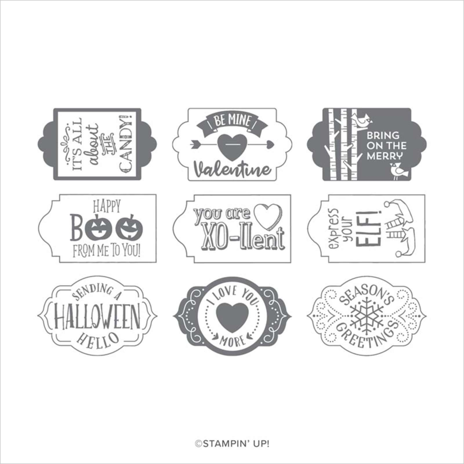 TAGS TAGS TAGS PHOTOPOLYMER STAMP SET (EN)