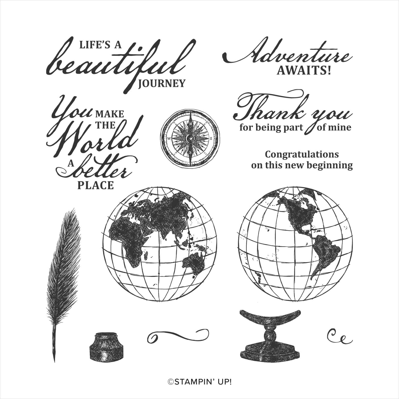 BEAUTIFUL WORLD CLING STAMP SET