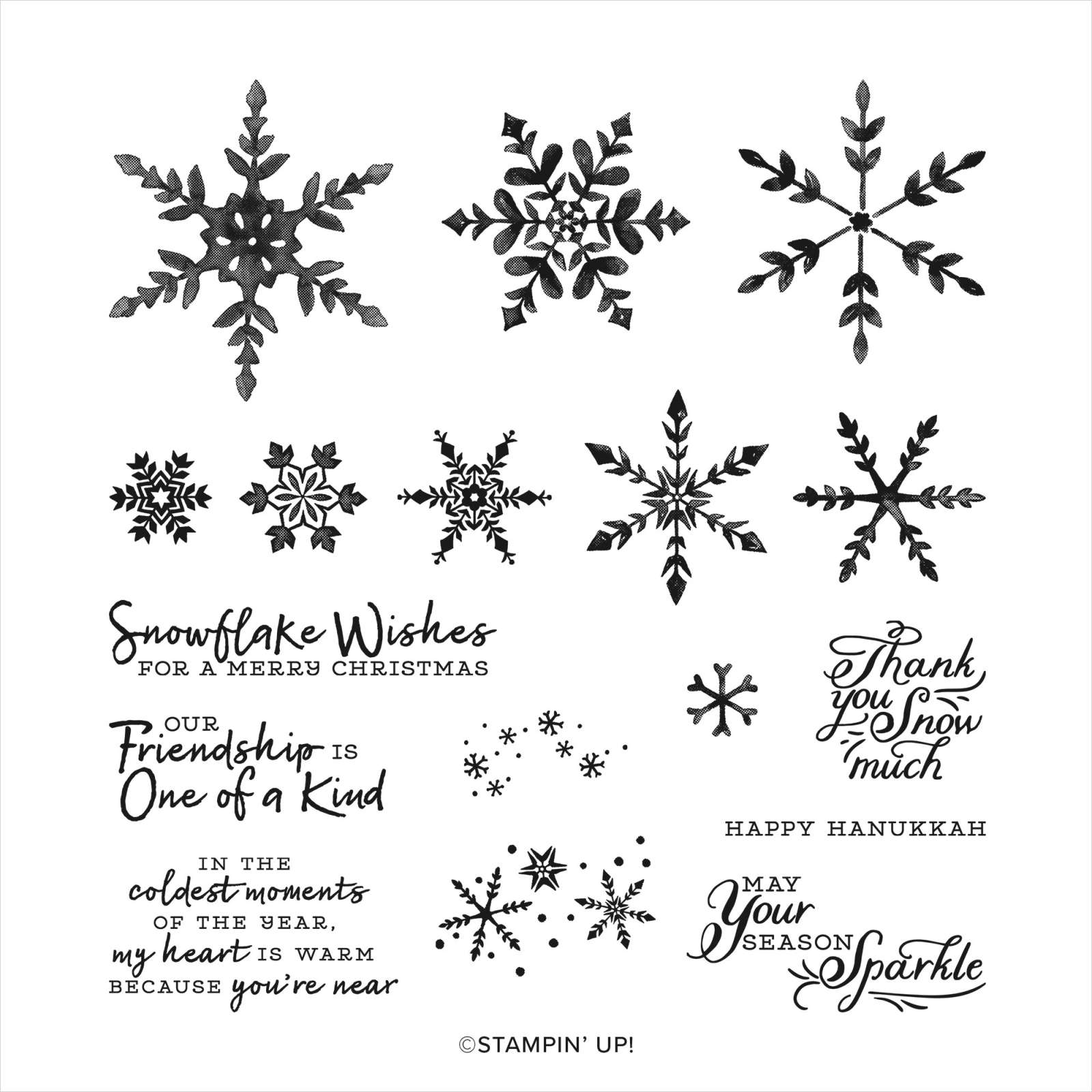 SNOWFLAKE WISHES PHOTOPOLYMER STAMP SET (ENGLISH)