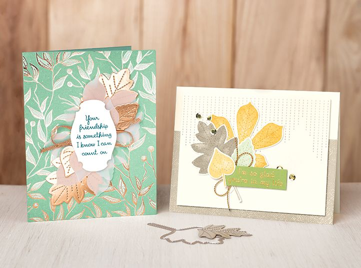 Card samples created with the Love of Leaves Bundle.