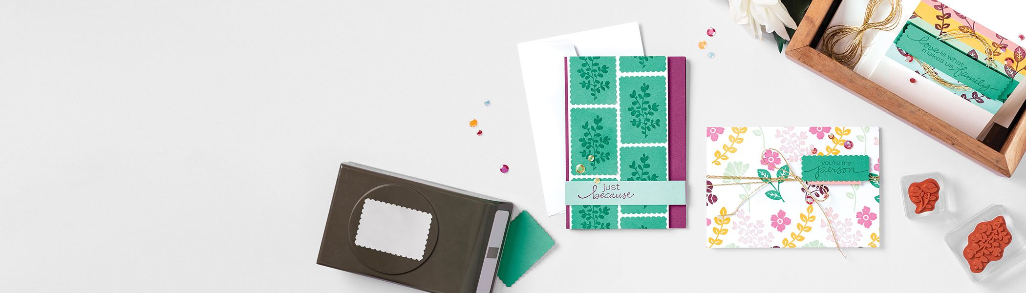 The Posted for You Bundle products with card samples