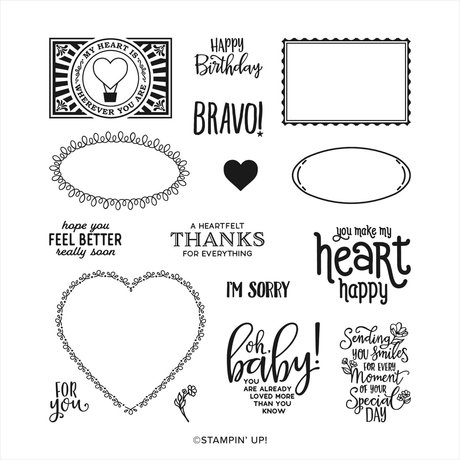 PUNCH PARTY HOST PHOTOPOLYMER STAMP SET