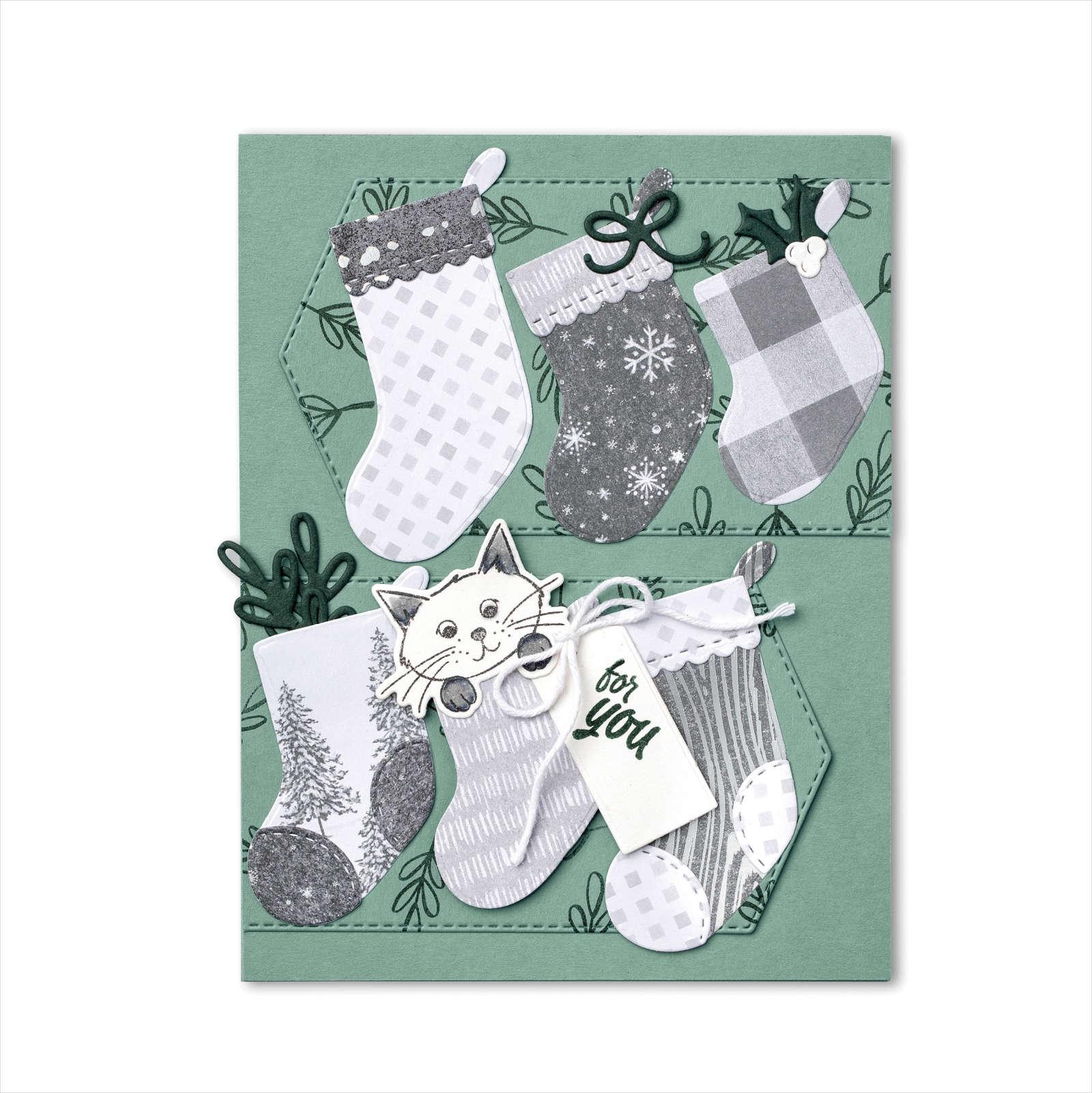 August-December 2021 Mini Catalog - Peaceful Sweet Stockings Card
