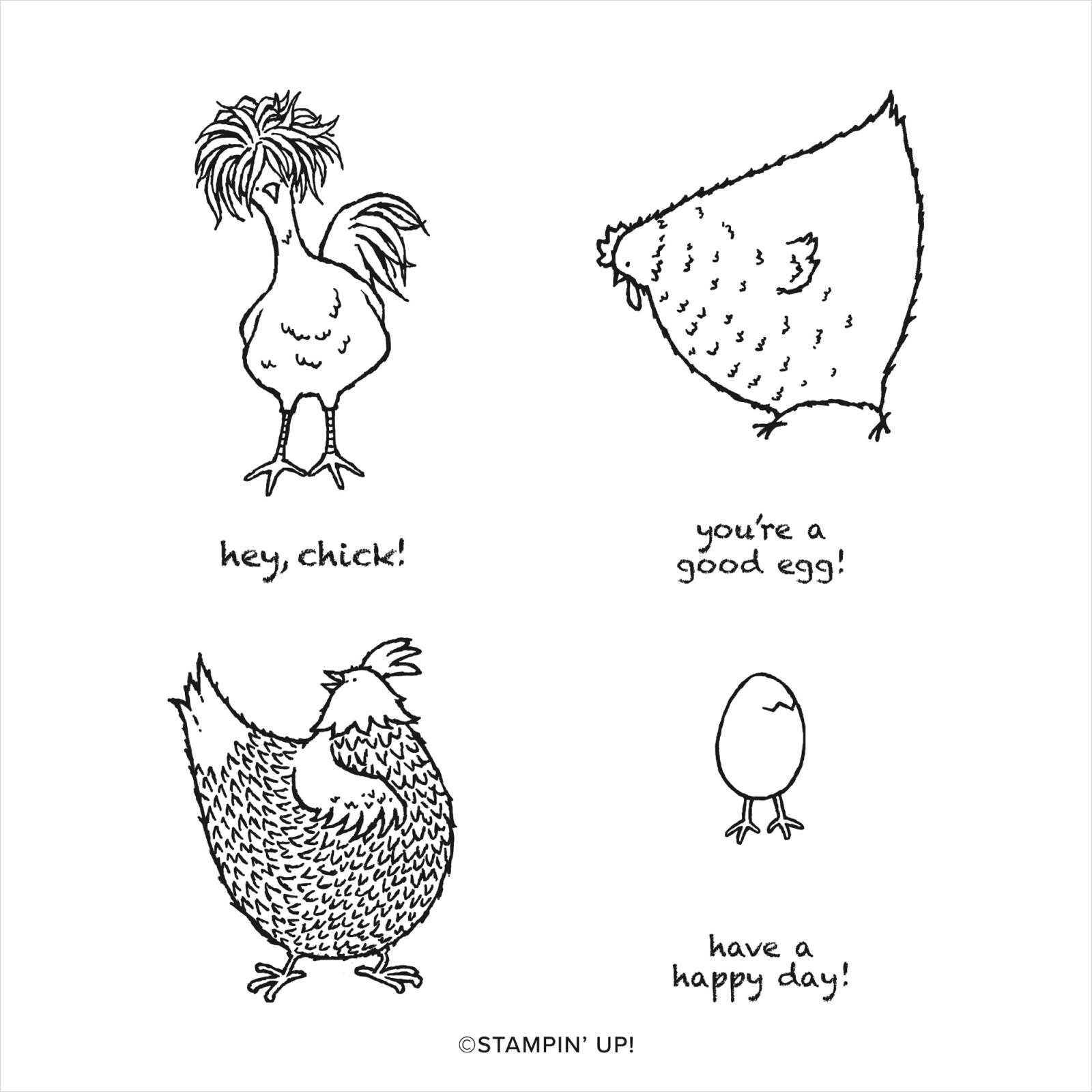 HEY CHICK CLING STAMP SET #158190