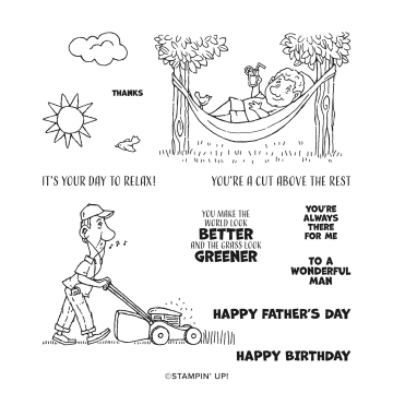 #154448 A CUT ABOVE CLING STAMP SET