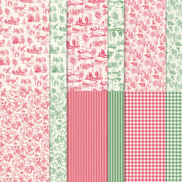 TOILE TIDINGS DESIGNER SERIES PAPER #150432