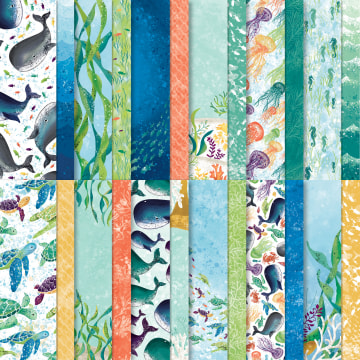 WHALE OF A TIME DESIGNER SERIES PAPER #152460