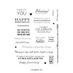 MANY MESSAGES CLING STAMP SET