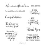 PEACEFUL MOMENTS CLING STAMP SET (ENGLISH)
