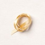 GOLD 1/4&quo; (6.4 MM) SHIMMER RIBBON