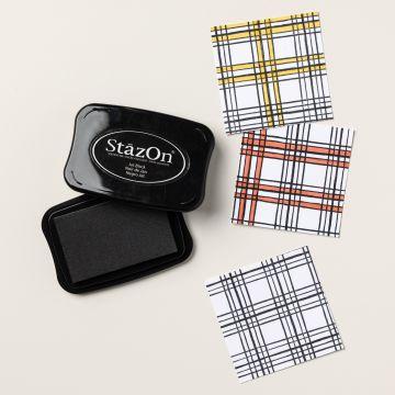 STAZON STEMPELKISSEN SCHWARZ