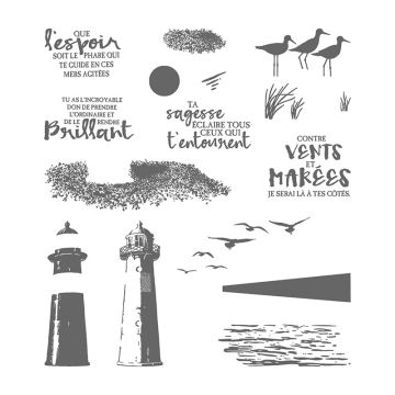 MARÉE HAUTE PHOTOPOLYMER STAMP SET (FRENCH)
