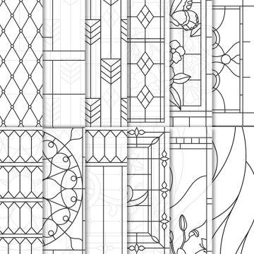 """Vélin de la série Design 6"""" x 6""""  (15,2 x 15,2cm) Verre élégant"""