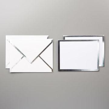 Silver Foil-Edged Cards & Envelopes