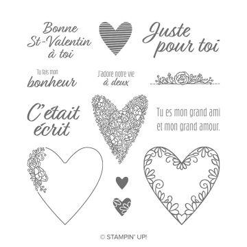 C'ÉTAIT ÉCRIT CLING STAMP SET (FRENCH)
