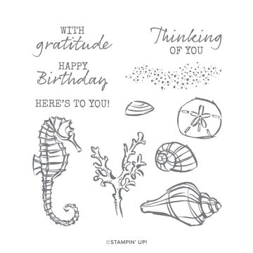 SEASIDE NOTIONS CLING STAMP SET (ENGLISH)