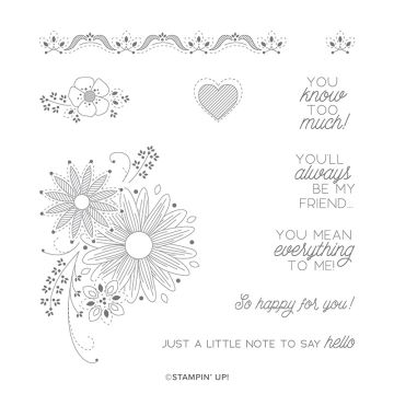 A LITTLE LACE CLING STAMP SET (ENGLISH)