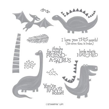 DINO DAYS PHOTOPOLYMER STAMP SET (ENGLISH)