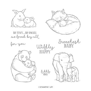 WILDLY HAPPY CLING STAMP SET (ENGLISH)