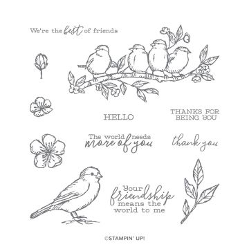 FREE AS A BIRD CLING STAMP SET (ENGLISH)