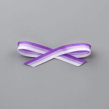 "PURPLE 3/8"" (1 CM) TRICOLOR RIBBON"