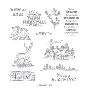 RUSTIC RETREAT CLING STAMP SET (ENGLISH)