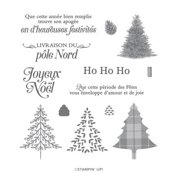 UN NOËL TRADITIONNEL PHOTOPOLYMER STAMP SET (FRENCH)
