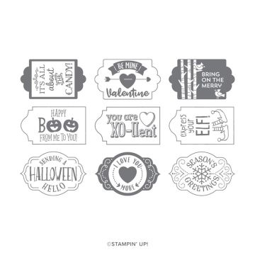 TAGS TAGS TAGS PHOTOPOLYMER STAMP SET (ENGLISH)