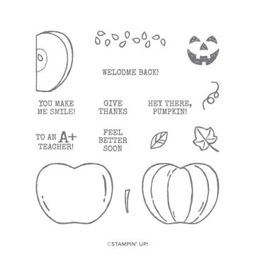 HARVEST HELLOS CLING STAMP SET (ENGLISH)