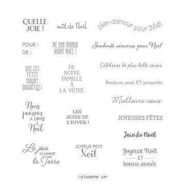 SET DE TAMPONS AMOVIBLES NOËL TOUT MINI (FRANÇAIS)