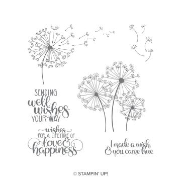 DANDELION WISHES CLING STAMP SET