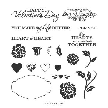 HEART TO HEART PHOTOPOLYMER STAMP SET