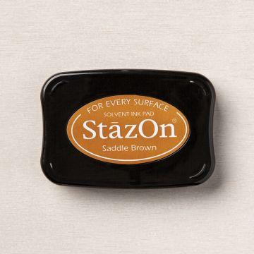 SADDLE BROWN STAZON INK PAD