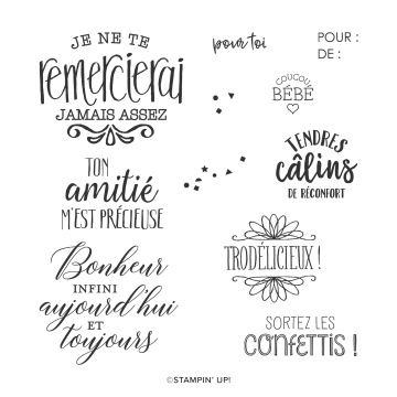 TENDRES SOUHAITS CLING STAMP SET (FRENCH)