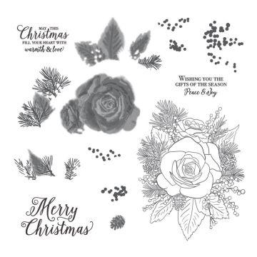 STEMPELSET CHRISTMAS ROSE (EN)