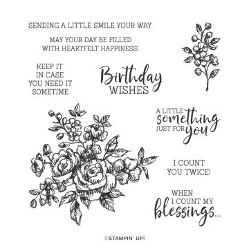 FANCY PHRASES CLING STAMP SET