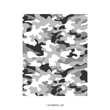 CAMOUFLAGE CLING STAMP SET
