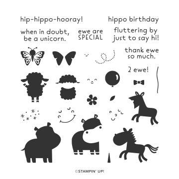 HIPPO HAPPINESS PHOTOPOLYMER STAMP SET (ENGLISH)