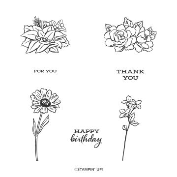 FOUR SEASON FLORAL PHOTOPOLYMER STAMP SET (EN)