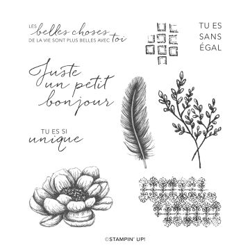TOUCHES D'ÉLÉGANCE CLING STAMP SET (FRENCH)