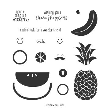 CUTE FRUIT PHOTOPOLYMER STAMP SET