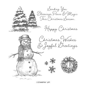 SNOW WONDER CLING STAMP SET (ENGLISH)